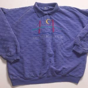 San Fransisco Pullover With Collar Size Large